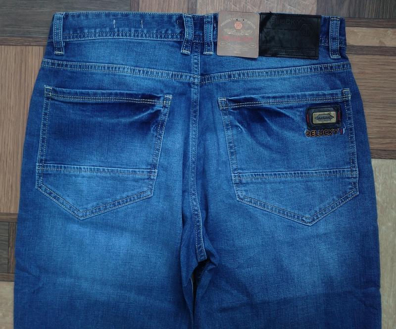Мужские джинсовые полубатальные шорты 32,33,34,35,38,40,42 ... - Фото 8