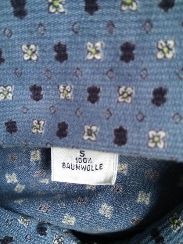 Голубая свободная рубашка на молнии/летняя курточка/кофта/блуз... - Фото 6