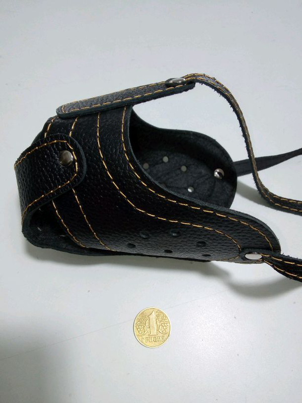 Намордник кожаный с натуральной кожи стаф, пит-буль