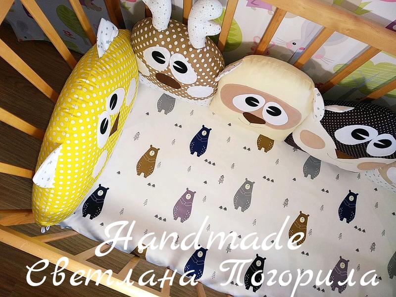 В НАЛИЧИИ комплект в кроватку бортики+ простынь.детское постельно - Фото 2