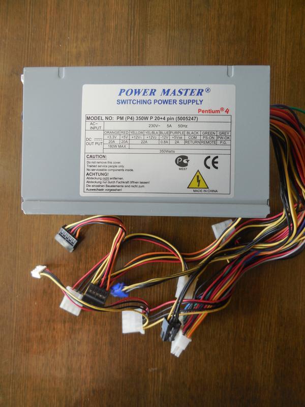 Блок питания Power Master PM (P4) 350W P 20+4 pin 80FAN