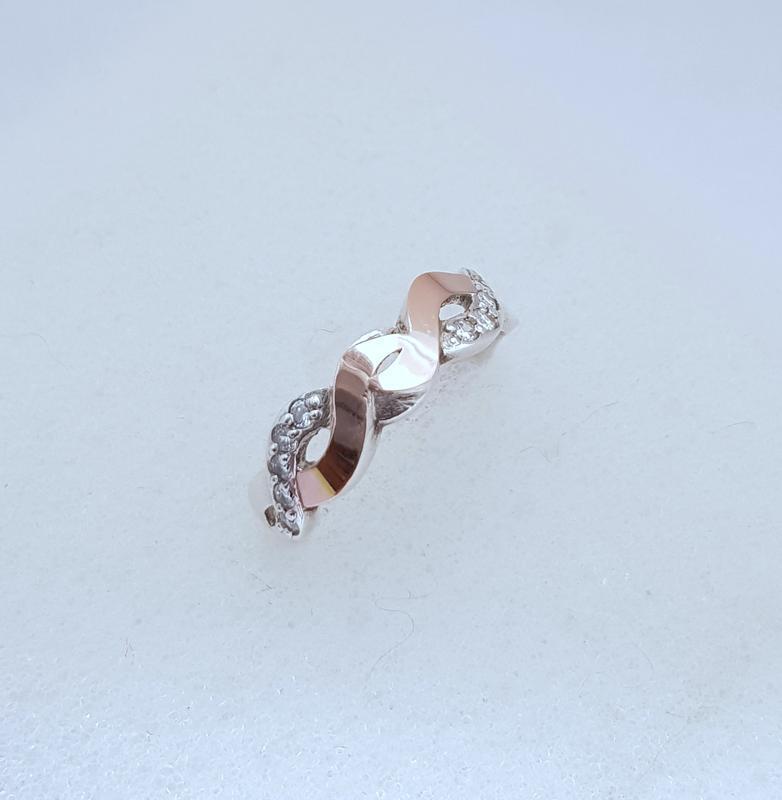 Серебряное кольцо 925 проба с золотом 375 пробы
