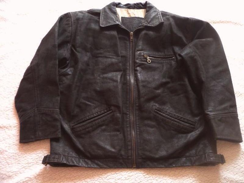Большая кожаная мужская куртка gipsy. лот 605