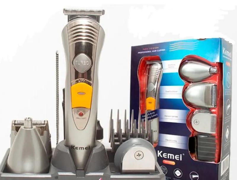 Машинка для стрижки волос бритва триммер Kemei KM 580-А 7 в 1 - Фото 3