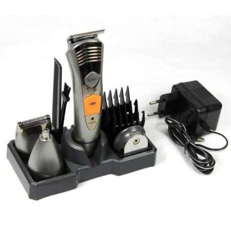 Машинка для стрижки волос бритва триммер Kemei KM 580-А 7 в 1 - Фото 4