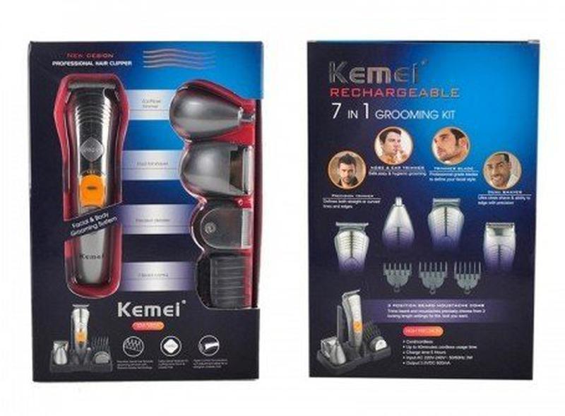 Машинка для стрижки волос бритва триммер Kemei KM 580-А 7 в 1 - Фото 7