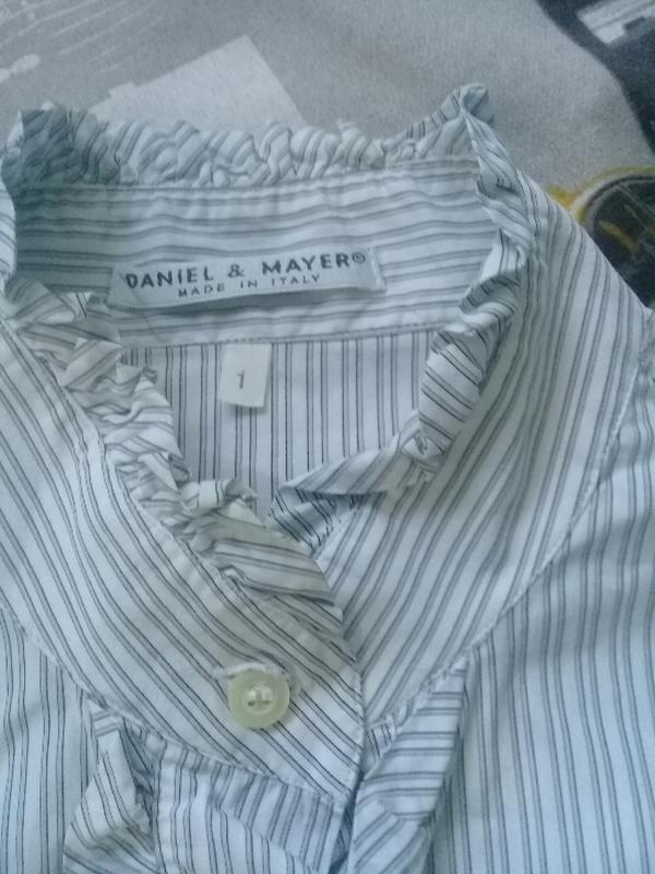 Нарядная рубашка в полоску/ блузка италия daniel &mayer