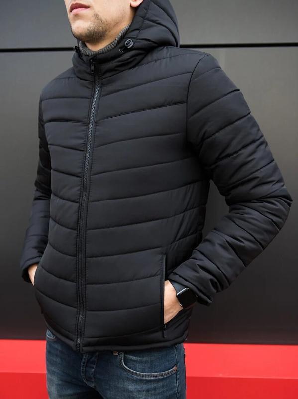 Мужская классическая зимняя куртка pronto black - Фото 5