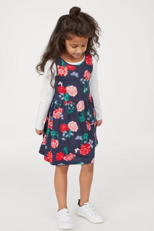 Красивое трикотажное платье h&m
