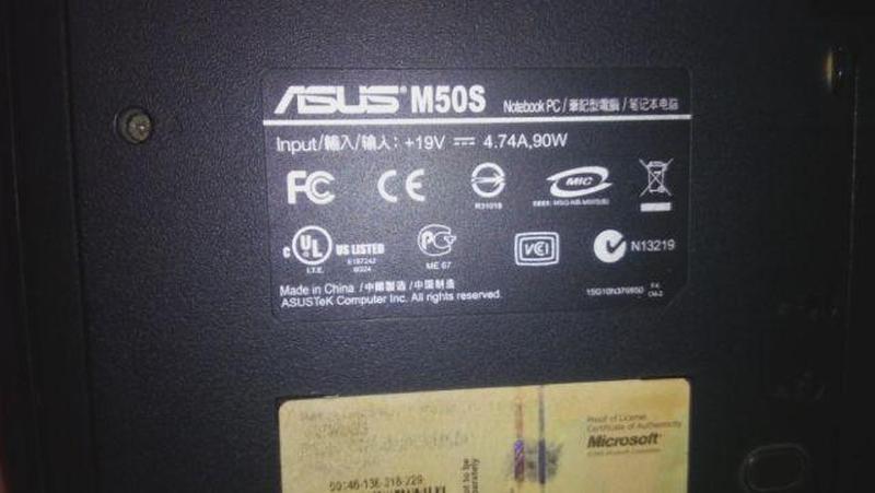 Ноутбук Asus M50S на запчасти