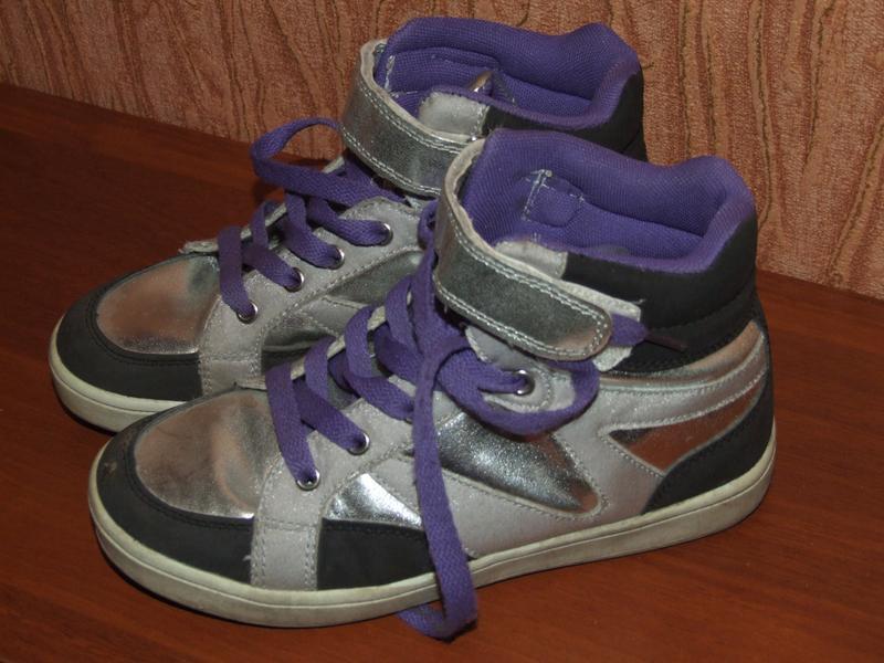 Кожаные ботиночки девочке 34 размер 22 см