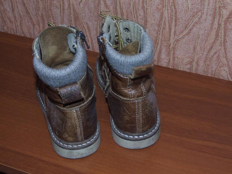 Демисезонные ботинки мальчику кожа 30 размер 20см стелька притык