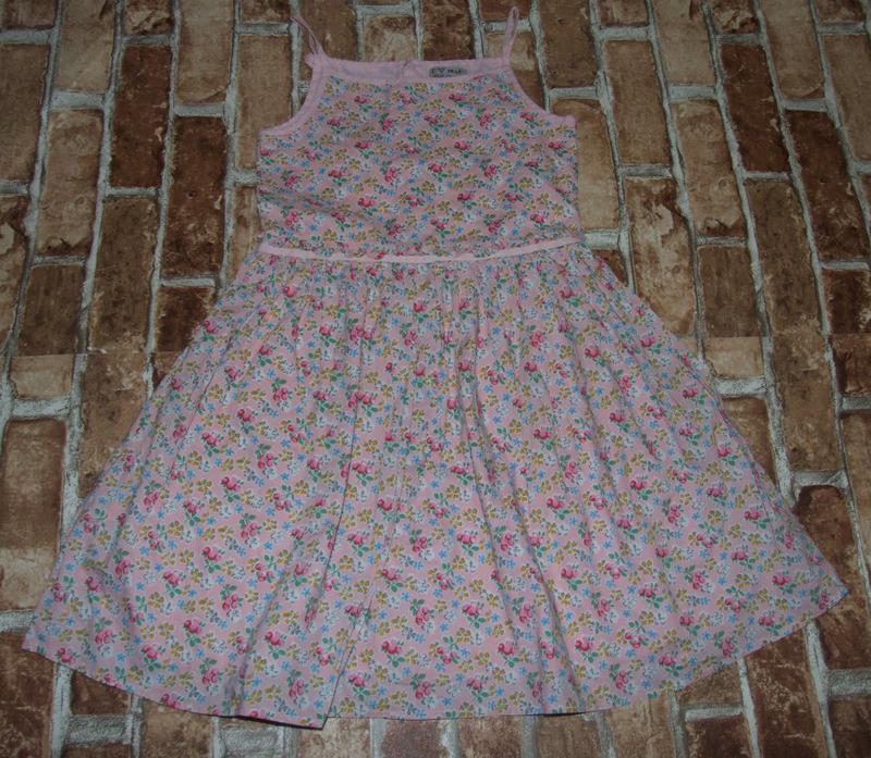 Сарафан платье нарядное  лето хб 9лет некст сток