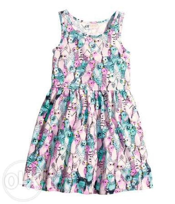 Платье котон трикотаж 2-6лет нм сток