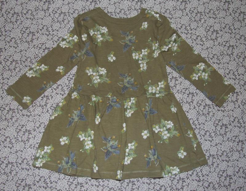 Платье хб 12-18мес некст