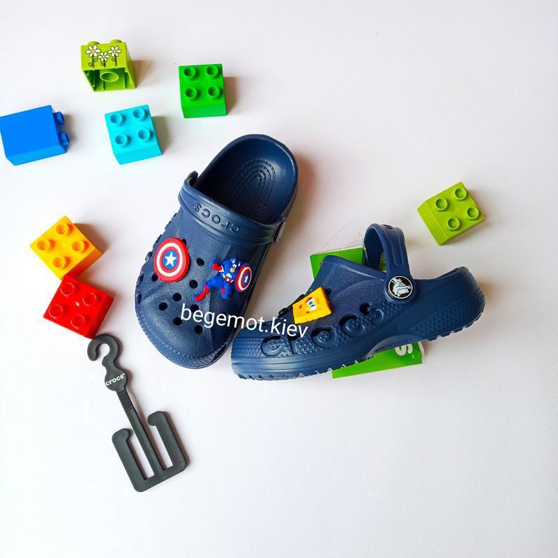 Детские кроксы на мальчика crocs baya clog kids от с7 до j2