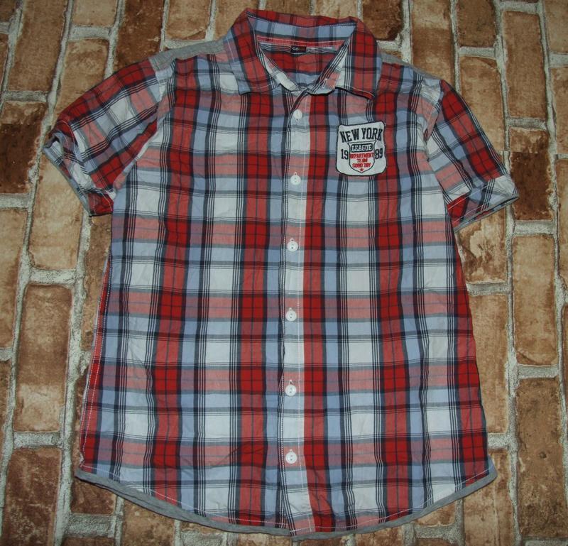 Рубашка котон лето 13-14лет сток