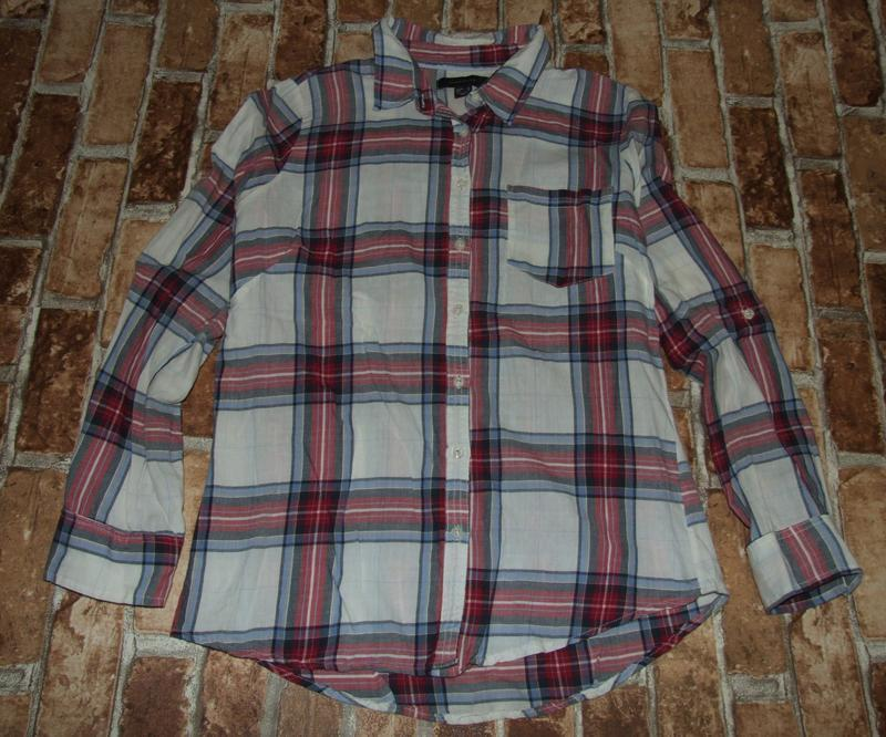 Блузка рубашка хлопковая м