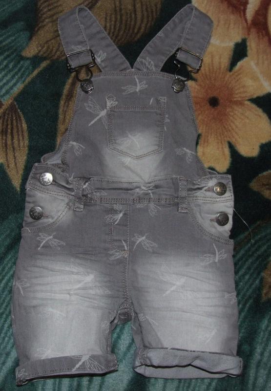 Комбинезон летний ромпер джинсовый стрейч 12 мес 80 см topolino
