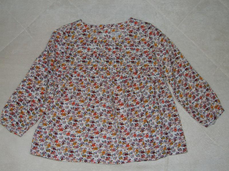 Блузка рубашка вискоза 2-3 года