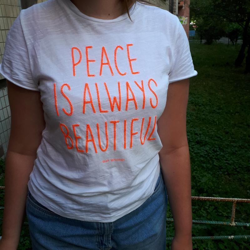 Легкая футболка котон новая 8-14 лет h&m