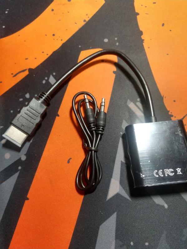 Конвертер адаптер переходник с HDMI на VGA + аудио