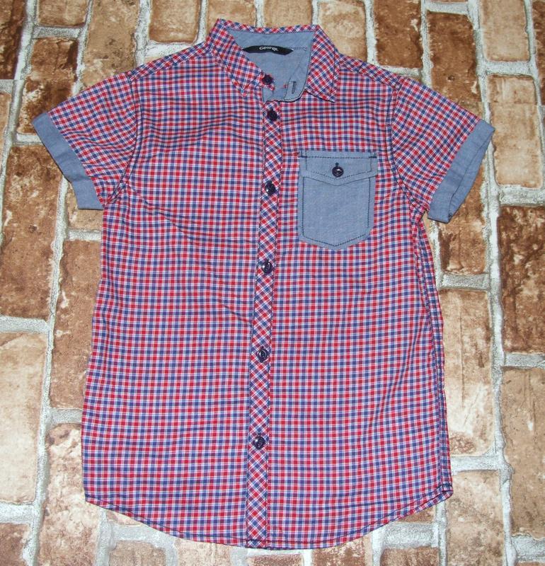 Рубашка тениска 7-8 лет george