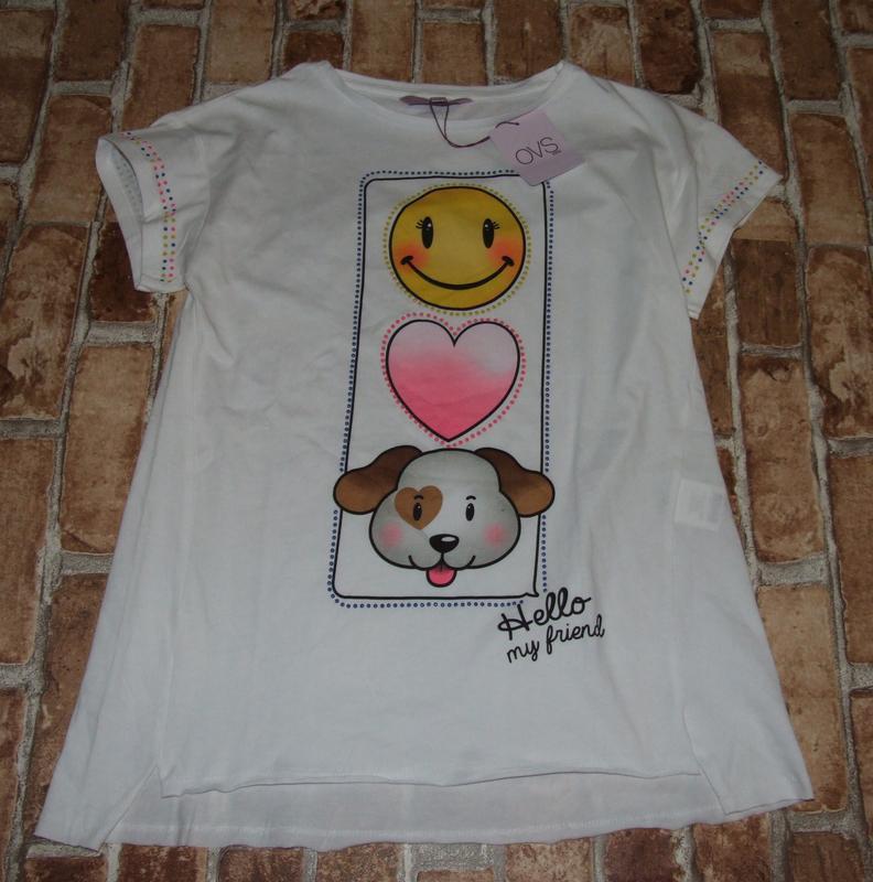 Новая хлопковая футболка 13-14 лет ovs