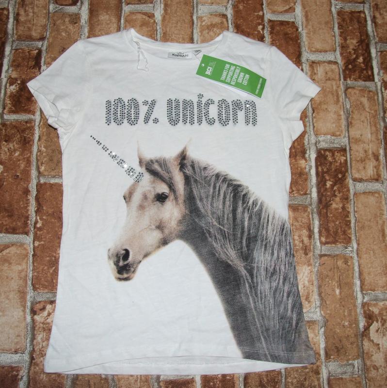 Новая хлопковая футболка 11-12 лет kappahl