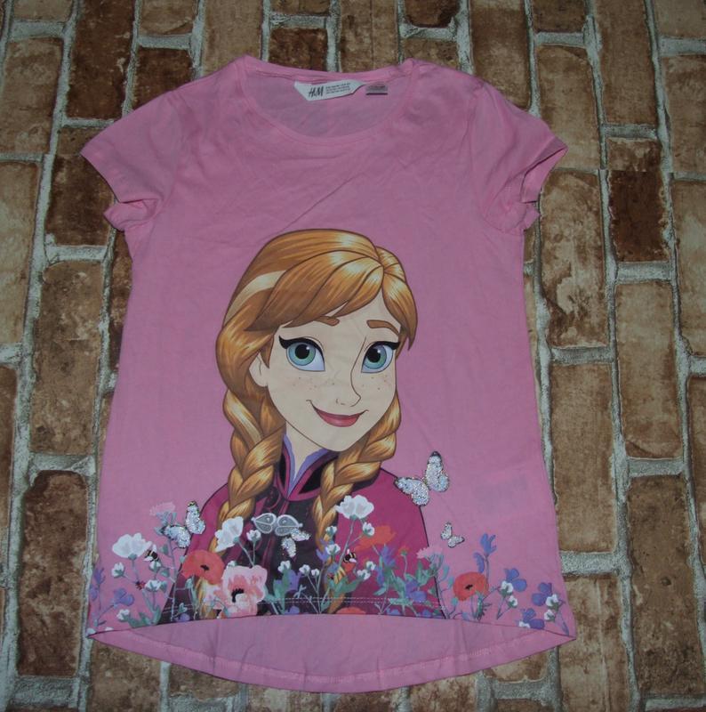 Хлопковая футболка анна 8-10 лет h&m