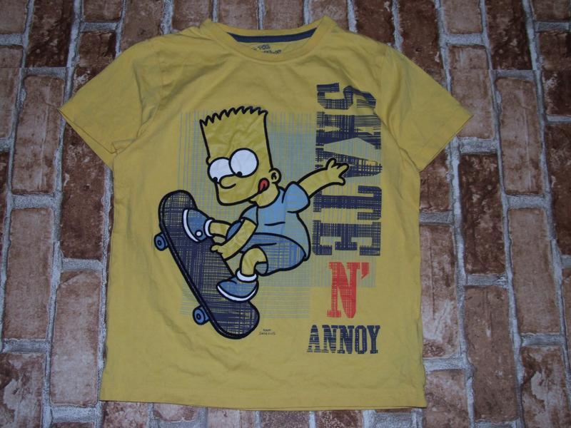 Хлопковая футболка 9-10 лет