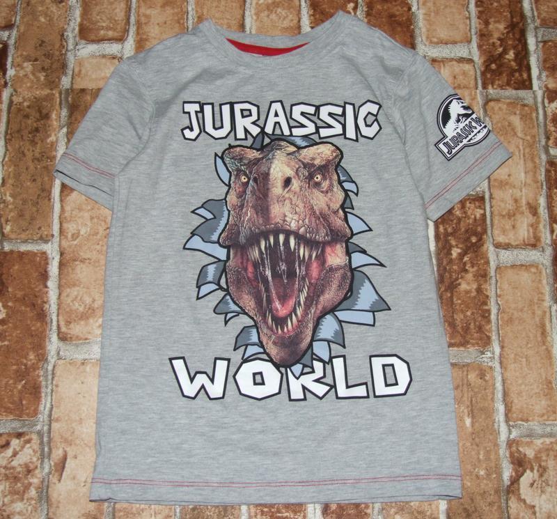 Футболка динозавр 7-8 лет george
