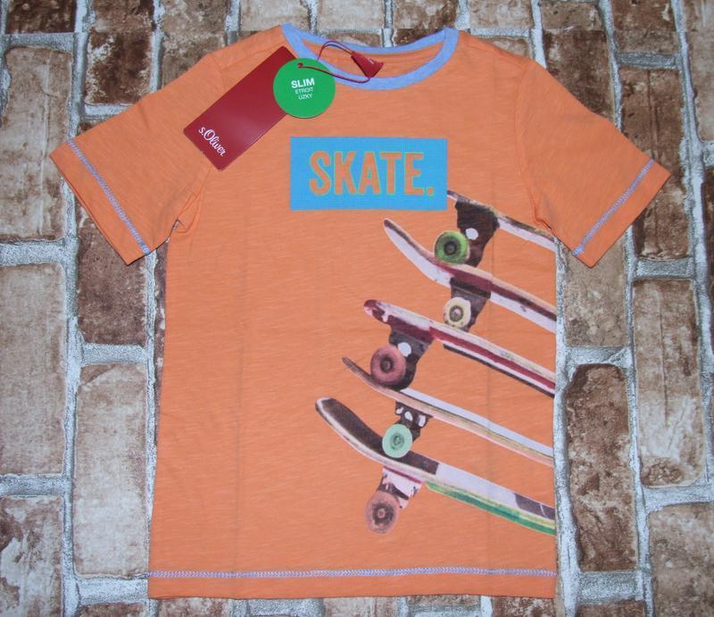 Новая хлопковая футболка s.oliver 4-6 лет