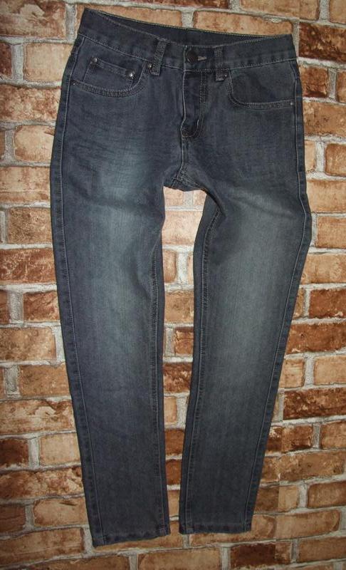 Новые серые  джинсы chapter young  11-12 лет