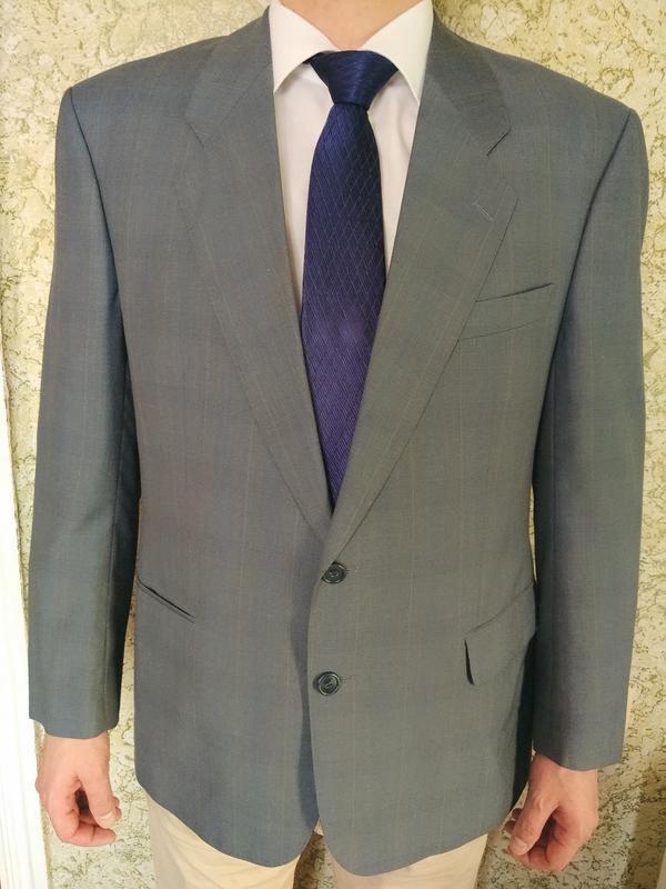 Супер #пиджак в клетку #италия #чистая шерсть
