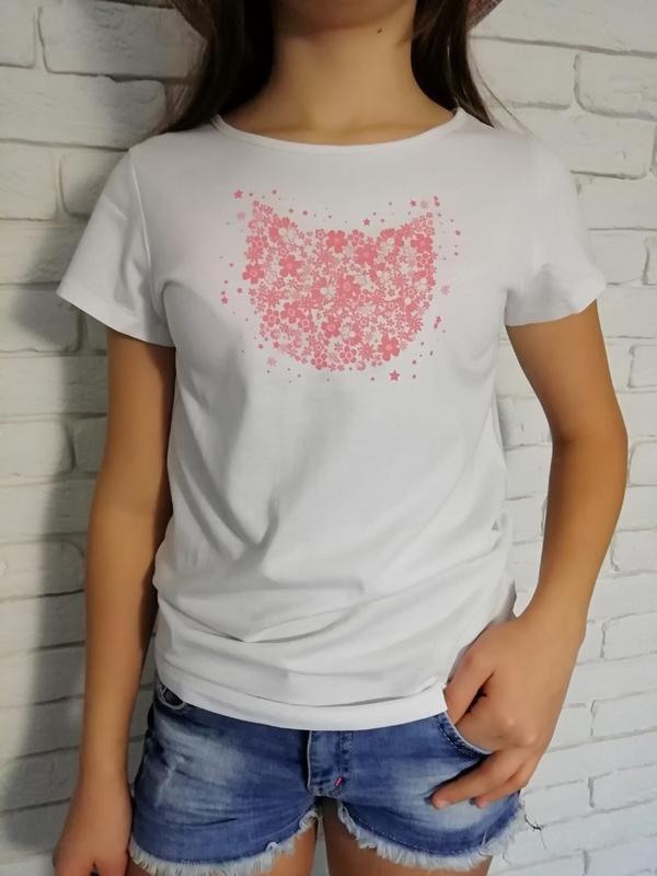 Нежные футболки из натурального хлопка на девочек 10-14 лет