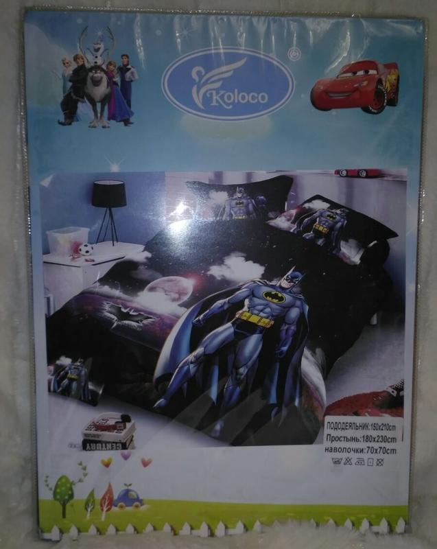 Комплект постельного белья бетмен  фланель - Фото 2