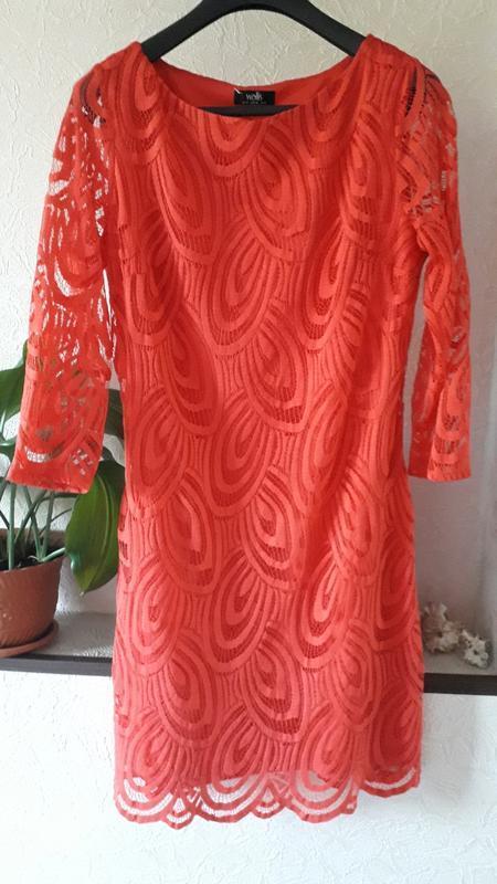 Женское кружевное нарядное вечернее платье wallis 12 14 повсед...