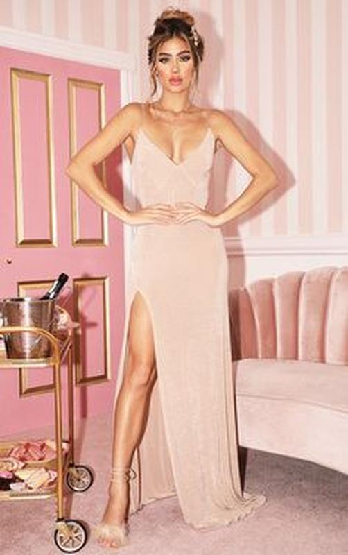 Женское вечернее нарядное платье комбинация glamorous коктейль...