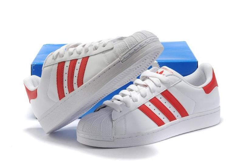 "Кроссовки adidas superstar ii ""white/red"" арт. 0124"