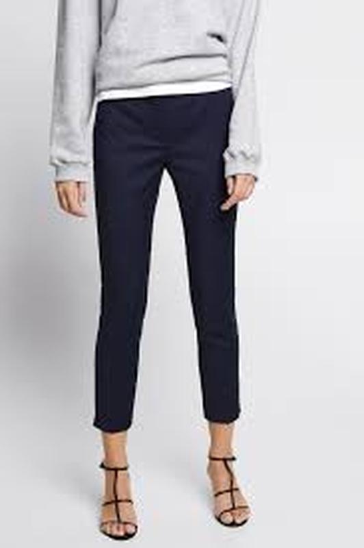 Темно синие классические брюки штаны зара xs - Фото 2