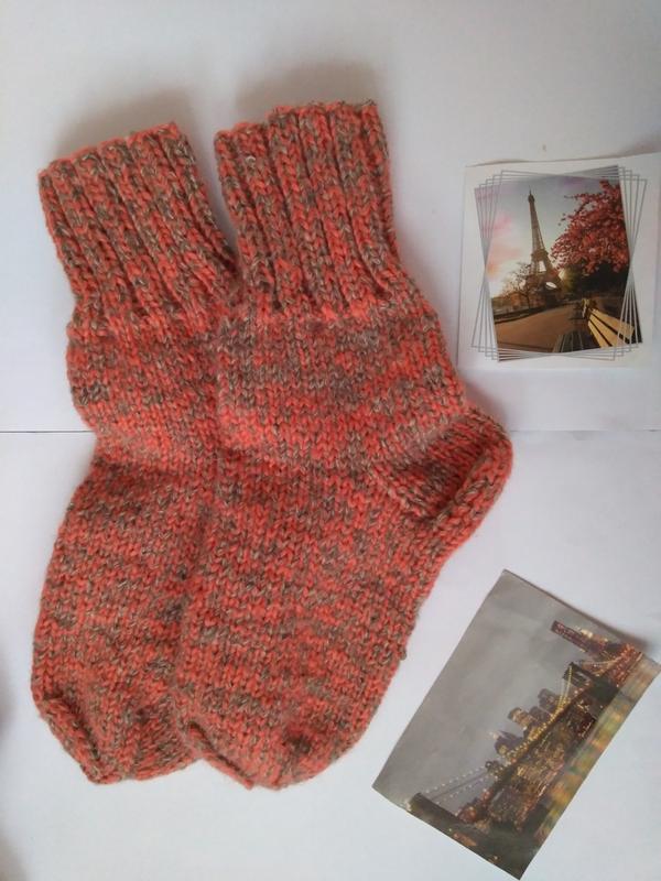 Носки вязаные ручная работа 38 39 шерсть зима
