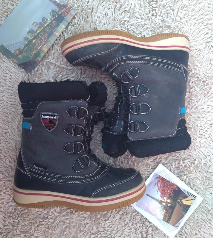 Ботинки сапоги hazard ami tex детские зима 21.5 см 33 р