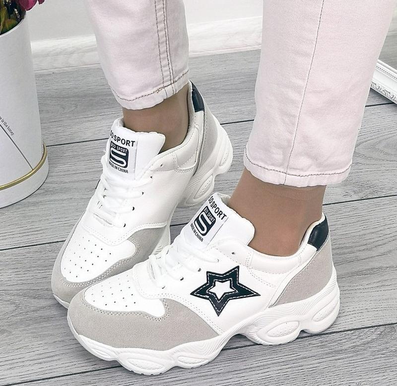 Белые кроссовки со звездой 37,41р
