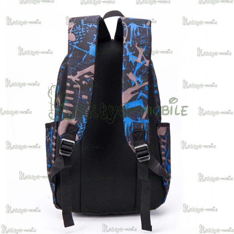 Рюкзак Yeenmoon YM3002, L15, L17 синий для школы, туризма, работы - Фото 3