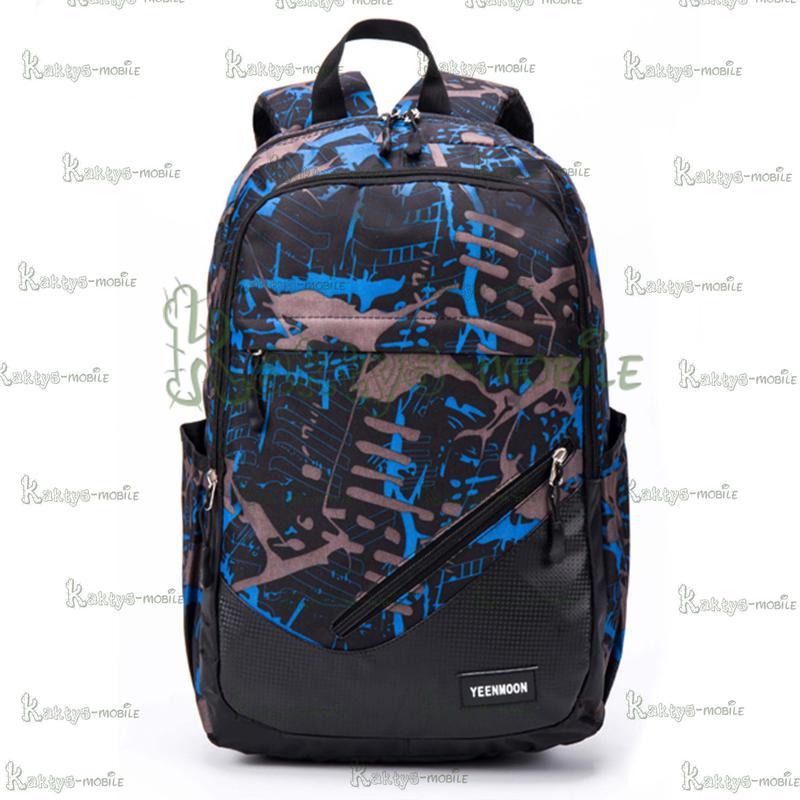 Рюкзак Yeenmoon YM3002, L15, L17 синий для школы, туризма, работы - Фото 7