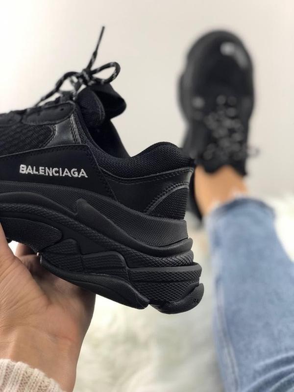 Топ кроссовки triple s full black. - Фото 3