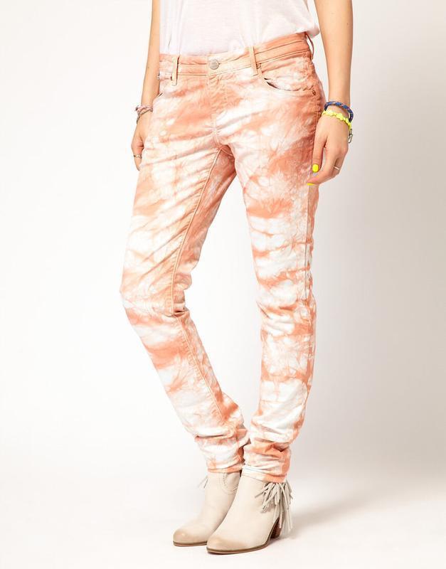 Натуральные джинсы-варенки с разводами дорогого бренда maison ... - Фото 3