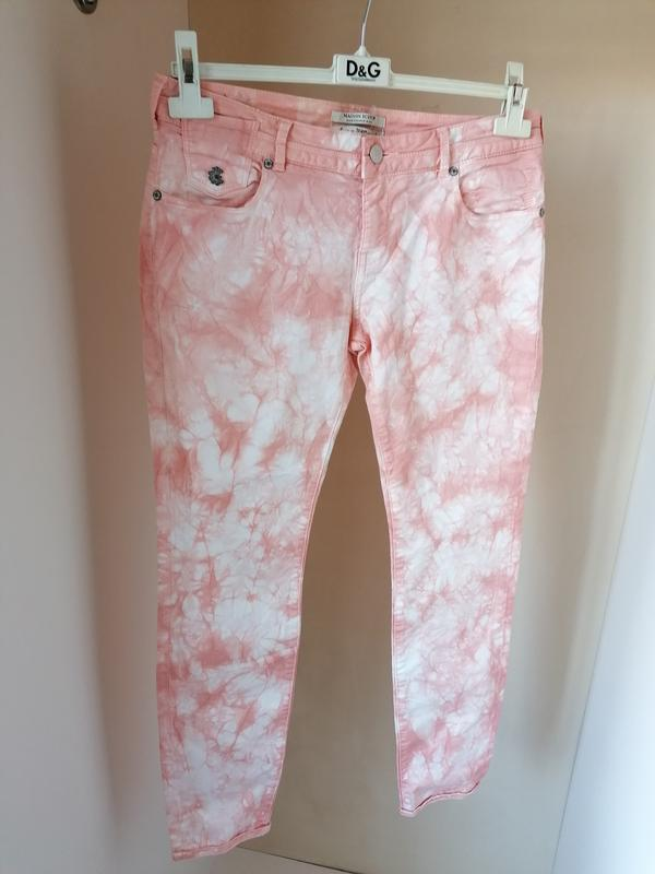 Натуральные джинсы-варенки с разводами дорогого бренда maison ... - Фото 5