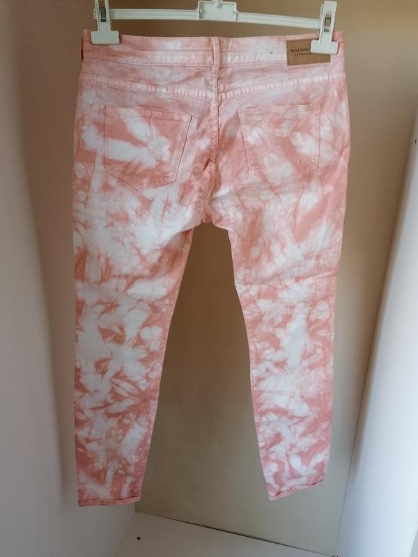 Натуральные джинсы-варенки с разводами дорогого бренда maison ... - Фото 6